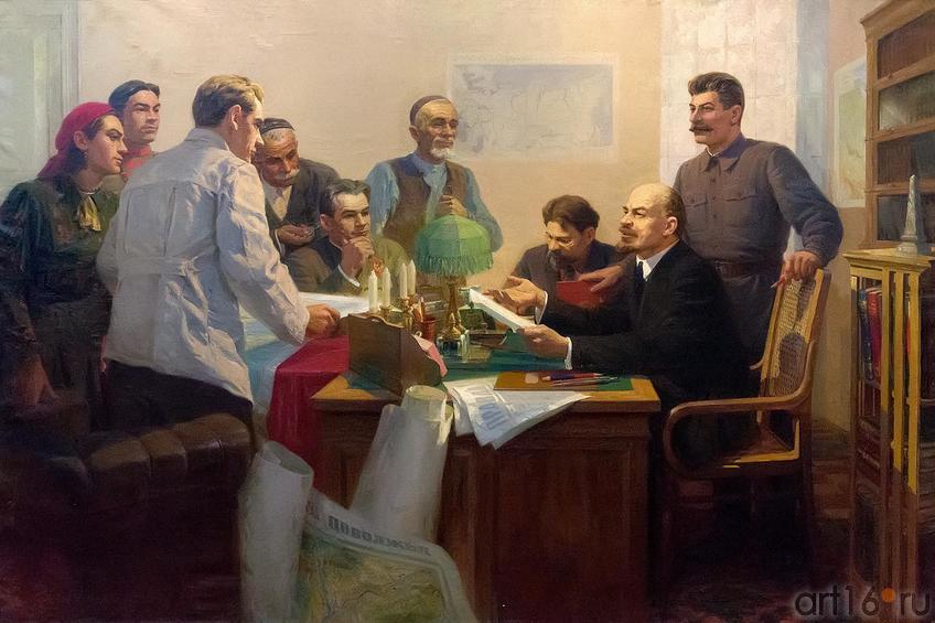 Фото №209977. Якупов/Фаттахов. ПОДПИСАНИЕ ДЕКРЕТА ОБ ОБРАЗОВАНИИ ТАССР. 1950