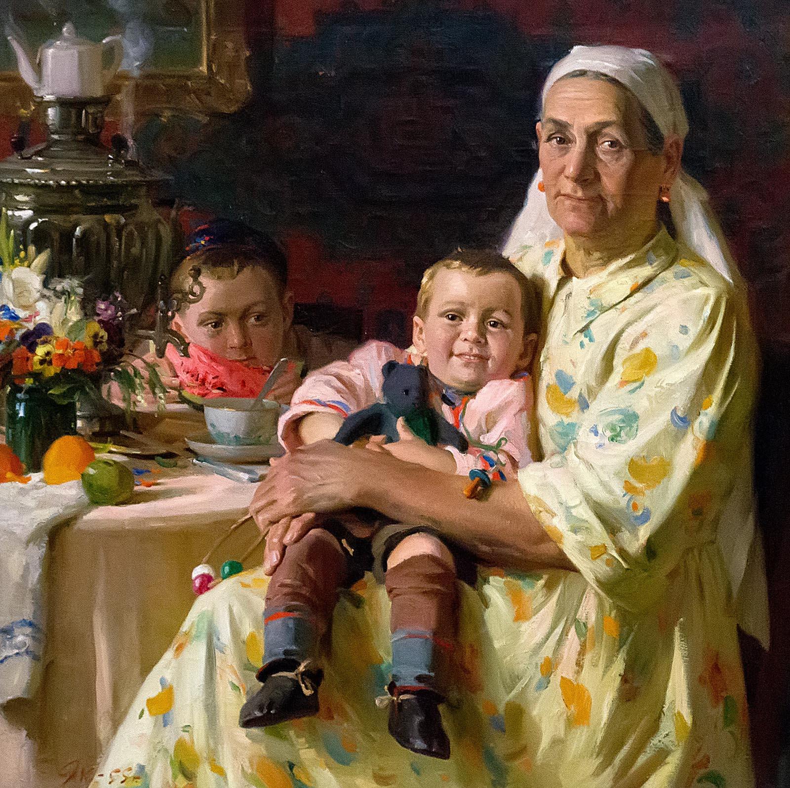 Фото №209989. ЯКУПОВ Х.А. 1919-2010 ПОРТРЕТ МАТЕРИ. 1955 Холст, масло