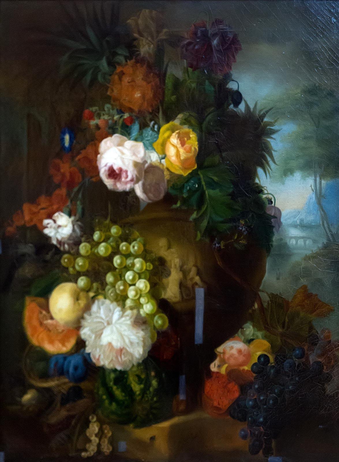 Фото №211309. ХЕЙСУМ ЯН ВАН (?). 1682 - 1749 Голландия ЦВЕТЫ И ФРУКТЫ Холст, масло