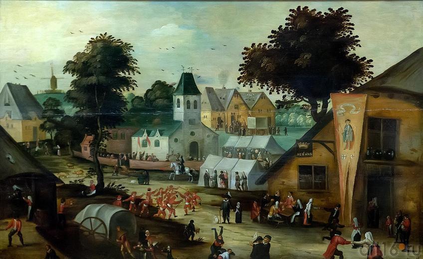 Фото №211423. ВИНКБОНС ДАВИД. 1576- 1632 Голландия КРЕСТЬЯНСКИЙ ПРАЗДНИК (КЕРМЕССА). 1620-с (?) Дерево, масло