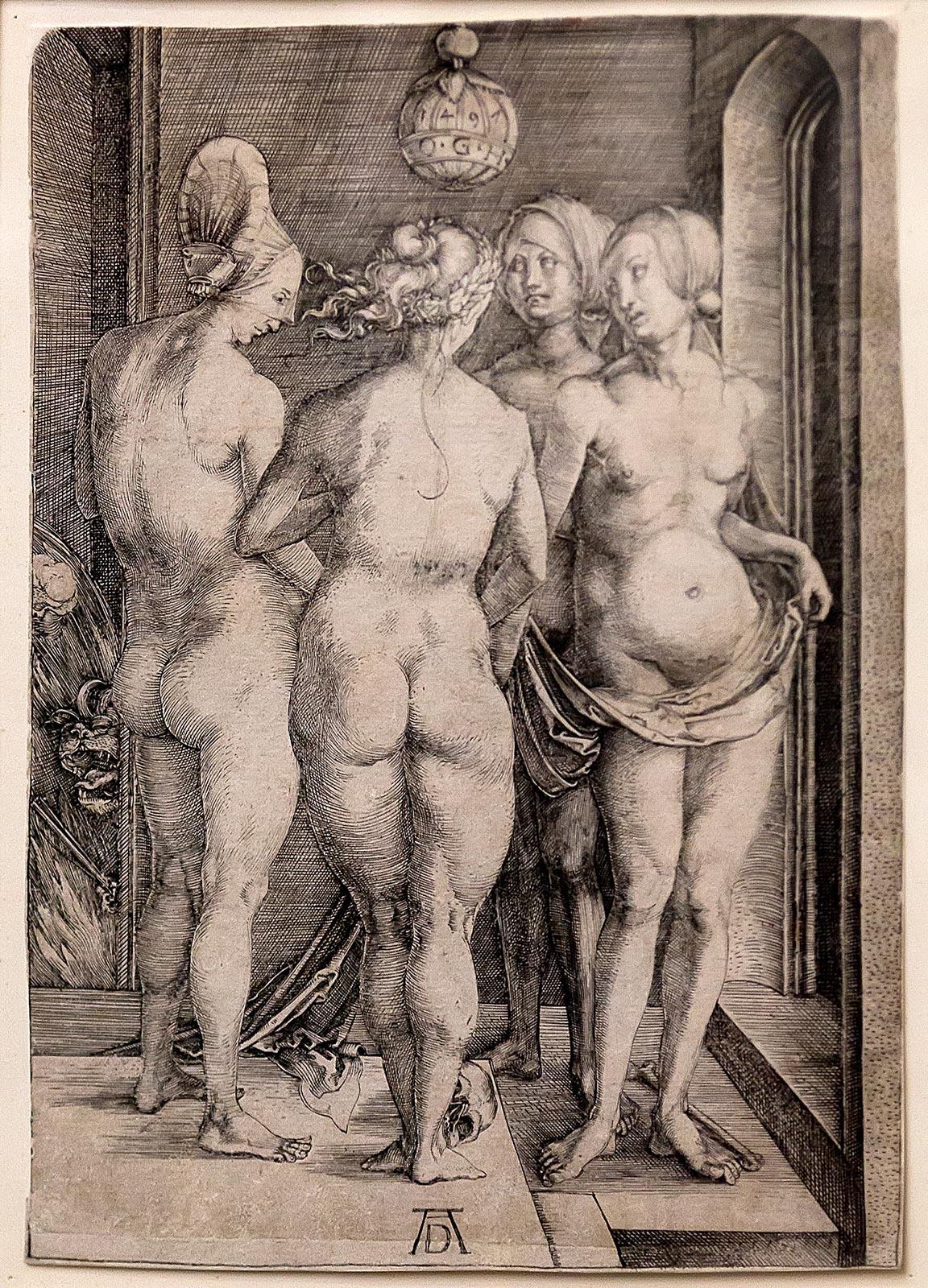 Фото №211636. ДЮРЕР, АЛЬБРЕХТ. 1471-1528. ЧЕТЫРЕ ВЕДЬМЫ. 1497