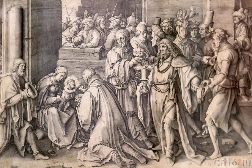 Фото №211648. ЛУКА ЛЕЙДЕНСКИЙ 1489/ 1494-1533. ПОКЛОНЕНИЕ ВОЛХВОВ. 1513