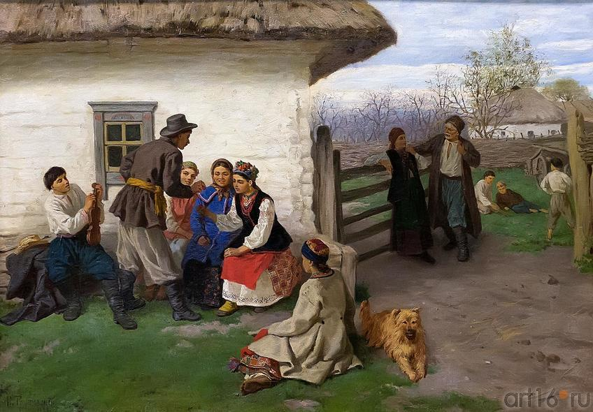 Фото №211888. ТРУТОВСКИЙ КОНСТАНТИН АЛЕКСАНДРОВИЧ 1826-1893 ПАСХА В МАЛОРОССИИ (НА УКРАИНЕ). 1883 Холст, масло