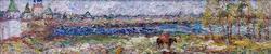 ДЕНИСОВ ВАСИЛИЙ ИВАНОВИЧ. 1862 -1922 ПЕЙЗАЖ С РЕЧКОЙ Холст на картоне, масло