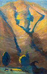 САРЬЯН МАРТИРОС СЕРГЕЕВИЧ. 1880-1972 ГОРНЫЙ ПЕЙЗАЖ. 1913 Холст, масло