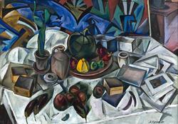КУПРИН АЛЕКСАНДР ВАСИЛЬЕВИЧ. 1889-1960 НАТЮРМОРТ. 1917 (?) Холст, масло