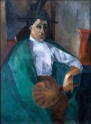 ГРИЩЕНКО АЛЕКСЕЙ ВАСИЛЬЕВИЧ. 1883-1977 ПОРТРЕТ. 1912 Холст, масло