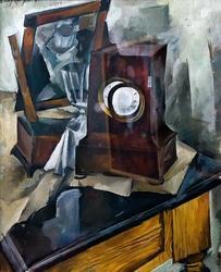 ОСМЕРКИН АЛЕКСАНДР АЛЕКСАНДРОВИЧ 1892-1953 НАТЮРМОРТ. 1920 Холст, масло