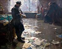 ЛОМАКИН О.Л. 1924 НОВЫЙ ХОЗЯИН. 1960 Холст, масло