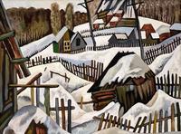 ЛЕБЕДЕВ С.А. 1945 ЖИЛИНО. ТИШИНА. 1988 Холст на картоне, масло