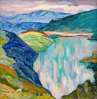 АБДУЛАЕВ М.Х. 1921-2002 ОЗЕРО ГЕК-ГЕЛЬ. 1970 Холст, масло