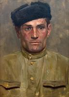 КОРЖЕВ Г.,М. 1925 МУЖСКОЙ ПОРТРЕТ. 1957 Холст, масло