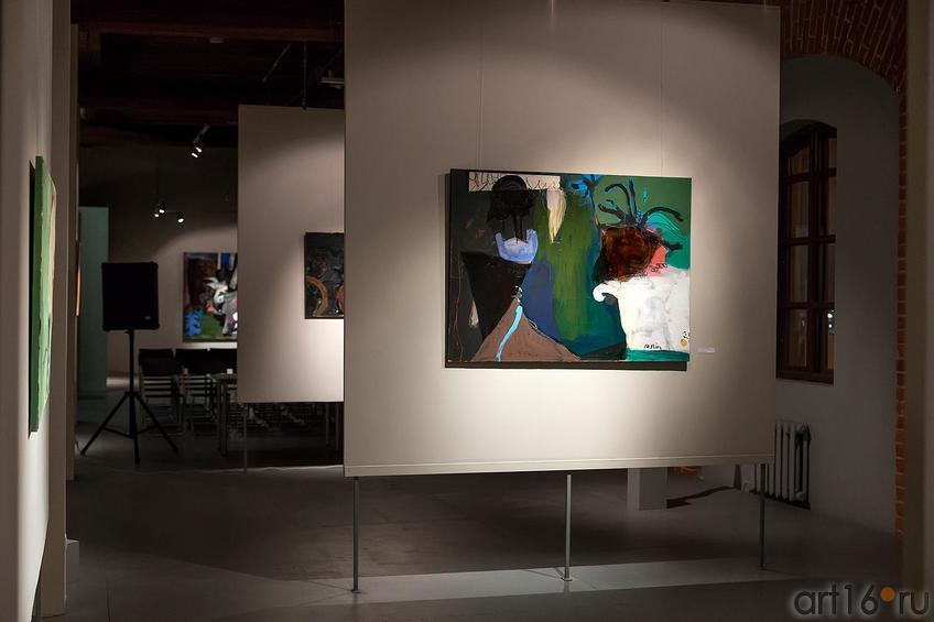 Фрагмент экспозиции::Оптические переживания. Выставка абстрактного искусства в ЦСИ «Смена»