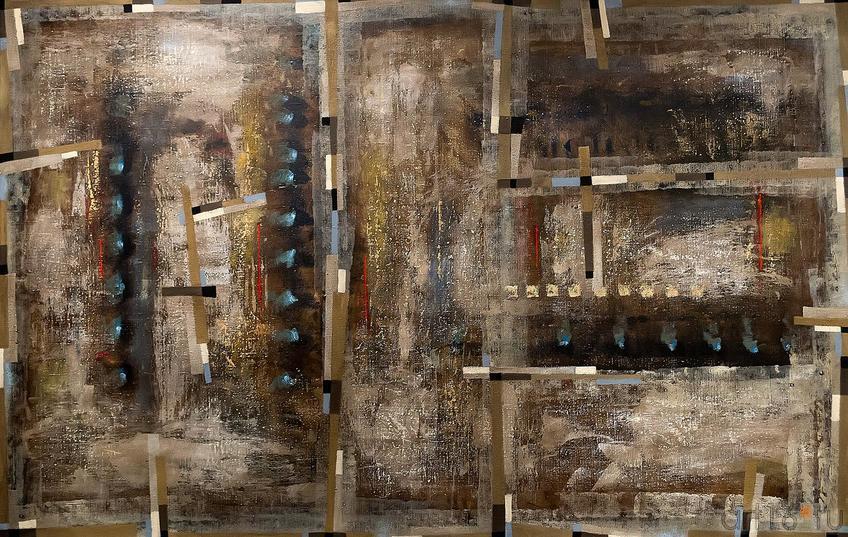 Ильгизар Хасанов «Композиция»::Оптические переживания. Выставка абстрактного искусства в ЦСИ «Смена»