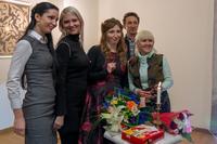 Альбина Абсалямова  и зрители концерта
