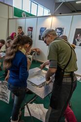 Юрий Штапаков, мастер-класс по технике изготовления монотипии