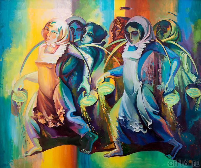 БЕГ С ВЕДРАМИ. 1979::МГАХИ им. Сурикова. Выставка произведений преподавателей и учебных работ студентов