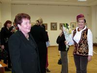Ф. Хасьянова на открытии выставки