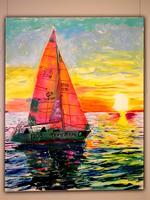 Яхта на фоне заката. 2007. Лысяков В.Н.
