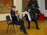 Елена Сазонова и Яна Абрамович (аккордеон)