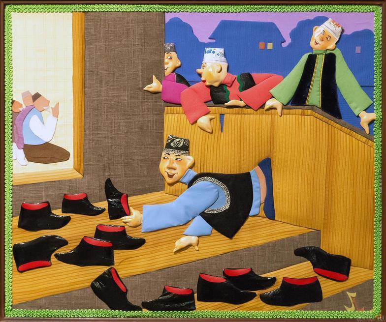 Из серии «ТЕПЛО РОДНОГО ДОМА». ГАЛОШИ. 2006::Выставка-продажа «Искусство Татарстана в олимпийском Сочи»