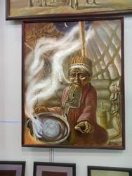 Инсталляция трехзубчатого Нагваля. 2008. Андрей Шкипер. Казань