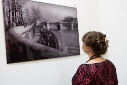 На фоне фото В.Сычева «Набережная Сены»