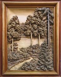 В лесу, С. Большаков (резьба по дереву)