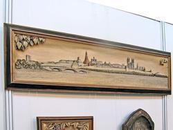 Панорама Казанского кремля, С. Большаков (резьба по дереву)