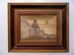 Преображенская башня Казанского кремля, С. Большаков (резьба по дереву)