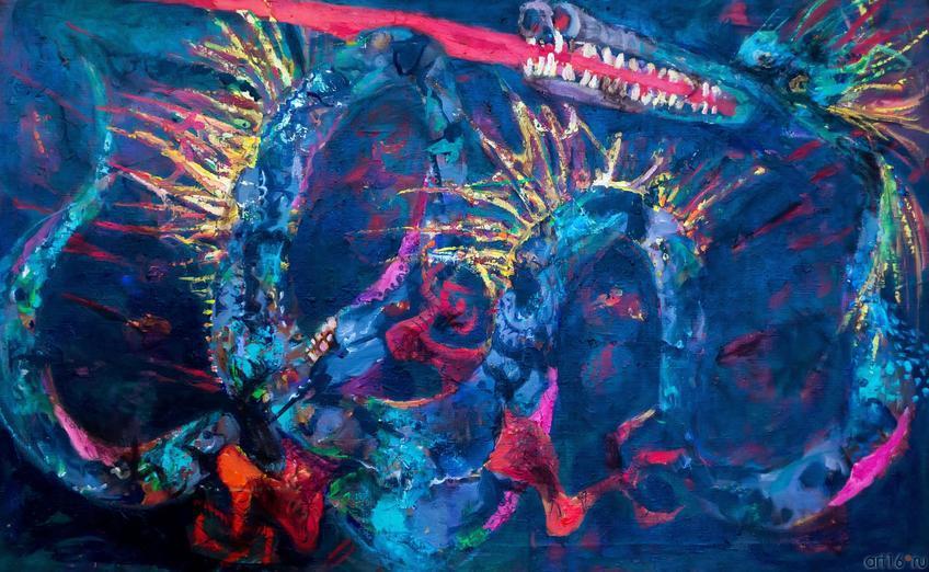Дракон. 2003 г.::«В поисках истины» Расим Бабаев. Живопись, графика