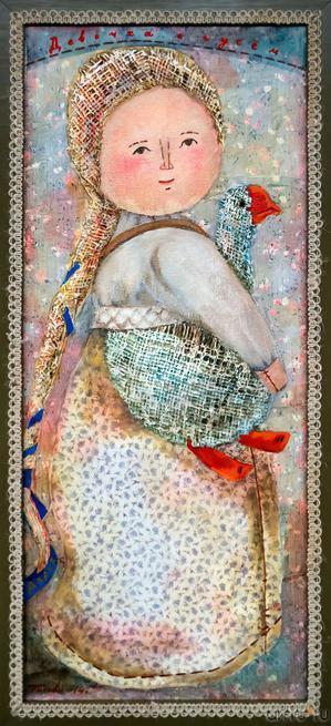 Девочка с гусём. Дарья. Автор: Елена Титова::Выставка Благовест