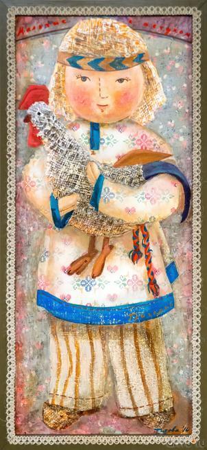 Мальчик с петухом. Григорий. Автор: Елена Титова::Выставка Благовест