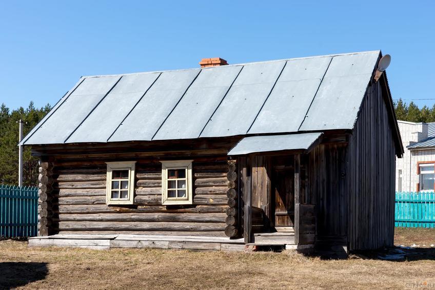 Фото №273135. Дом-четырёхстенник с сенями (крестьянский быт Заказанья), реконструкция 1979 г.