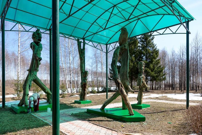 Фото №273444. Парковая скульптурная группа по мотивам произведений Тукая