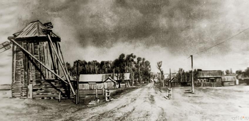 Фото №273534. Вид деревни Кырлай со старой мельницы. 1963