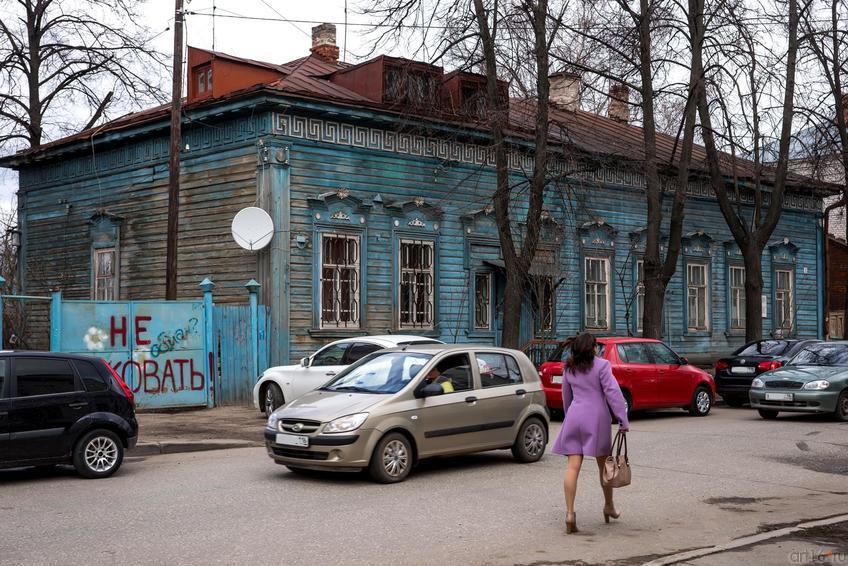 Дом деревянной постройки 1890-х гг.::24.04.2014 К.Маркса (до пл.Свободы) и окрестности