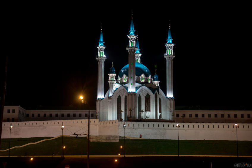 Мечеть Кул Шариф. Вид ночью::Служебный