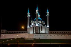 Мечеть Кул Шариф. Вид ночью