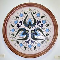 Кожаная мозаика. Букет. 2002