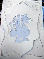 Рисунок наносится на бумагу, вырезаются все детали
