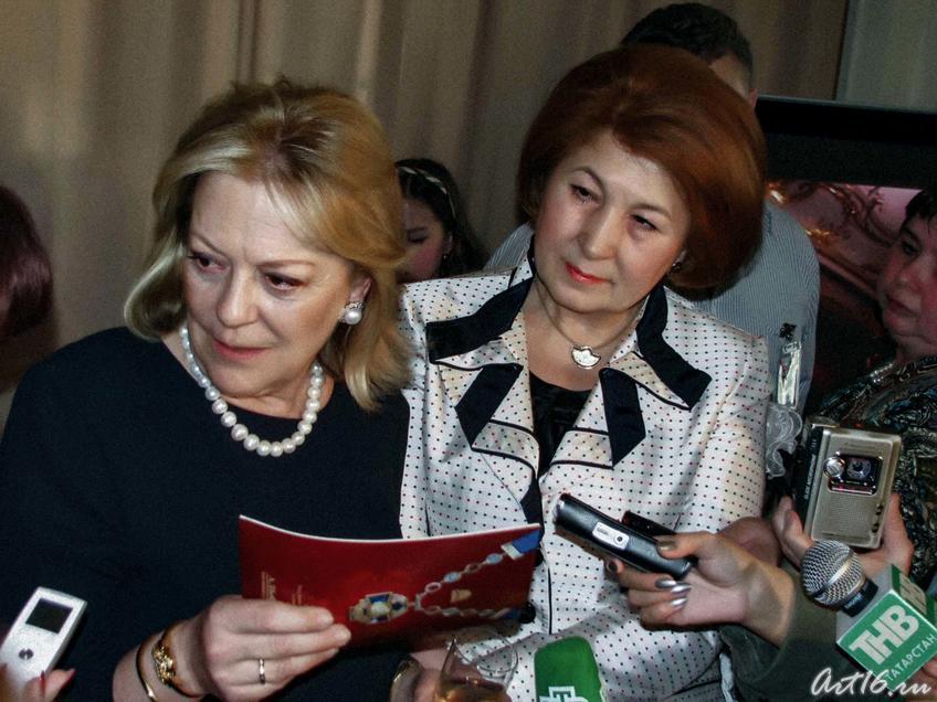 Фото №30186. Княгиня Юсупова-Сфири и З.Валеева