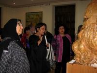 Делегация мусульманок из Кувейта в зале Баки Урманче