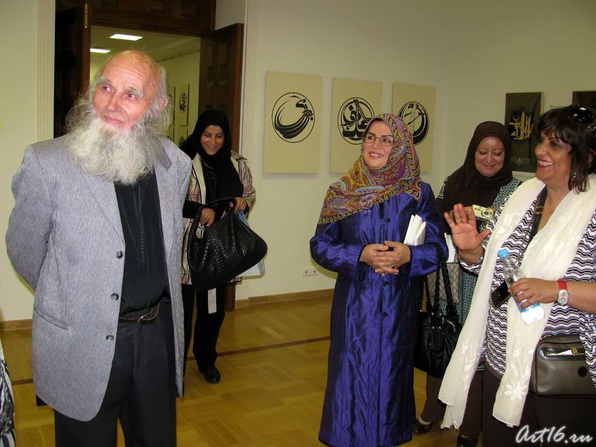 Встреча с Владимиром Поповым::Визит в Республику Татарстан мусульманок Государства Кувейт