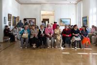 На открытии выставки «Пейзаж, натюрморт в живописи Кондрата Максимов»
