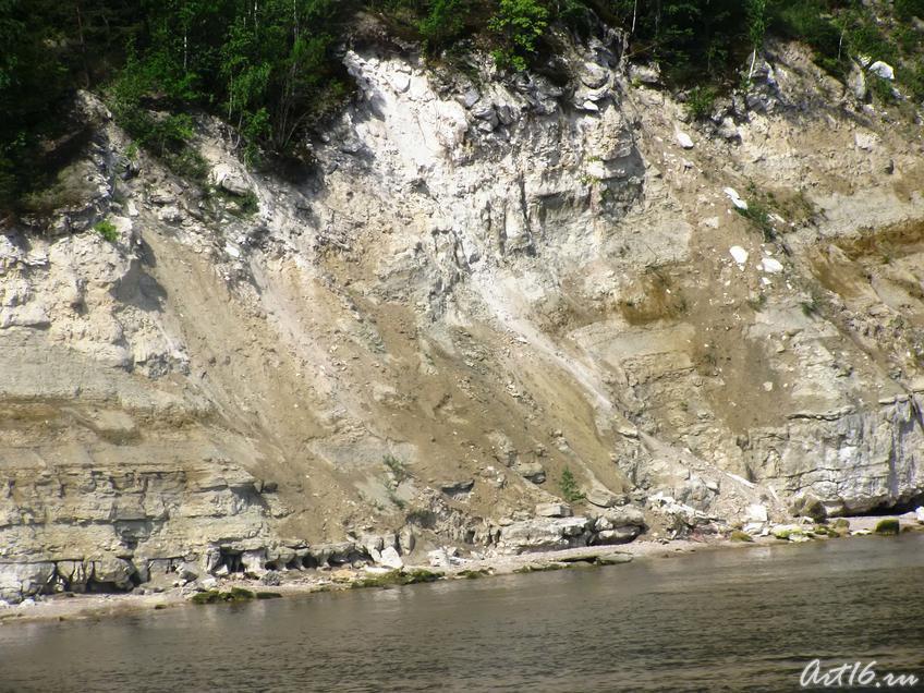Скалистый правый берег Волги::Булгары