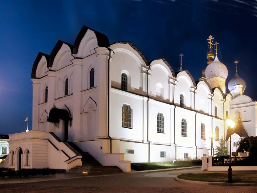 Благовещенский собор Казанского кремля::Казанский Кремль. Ночь. 2009г.