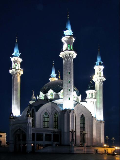 Мечеть Кул Шариф ночью::Казанский Кремль. Ночь. 2009г.