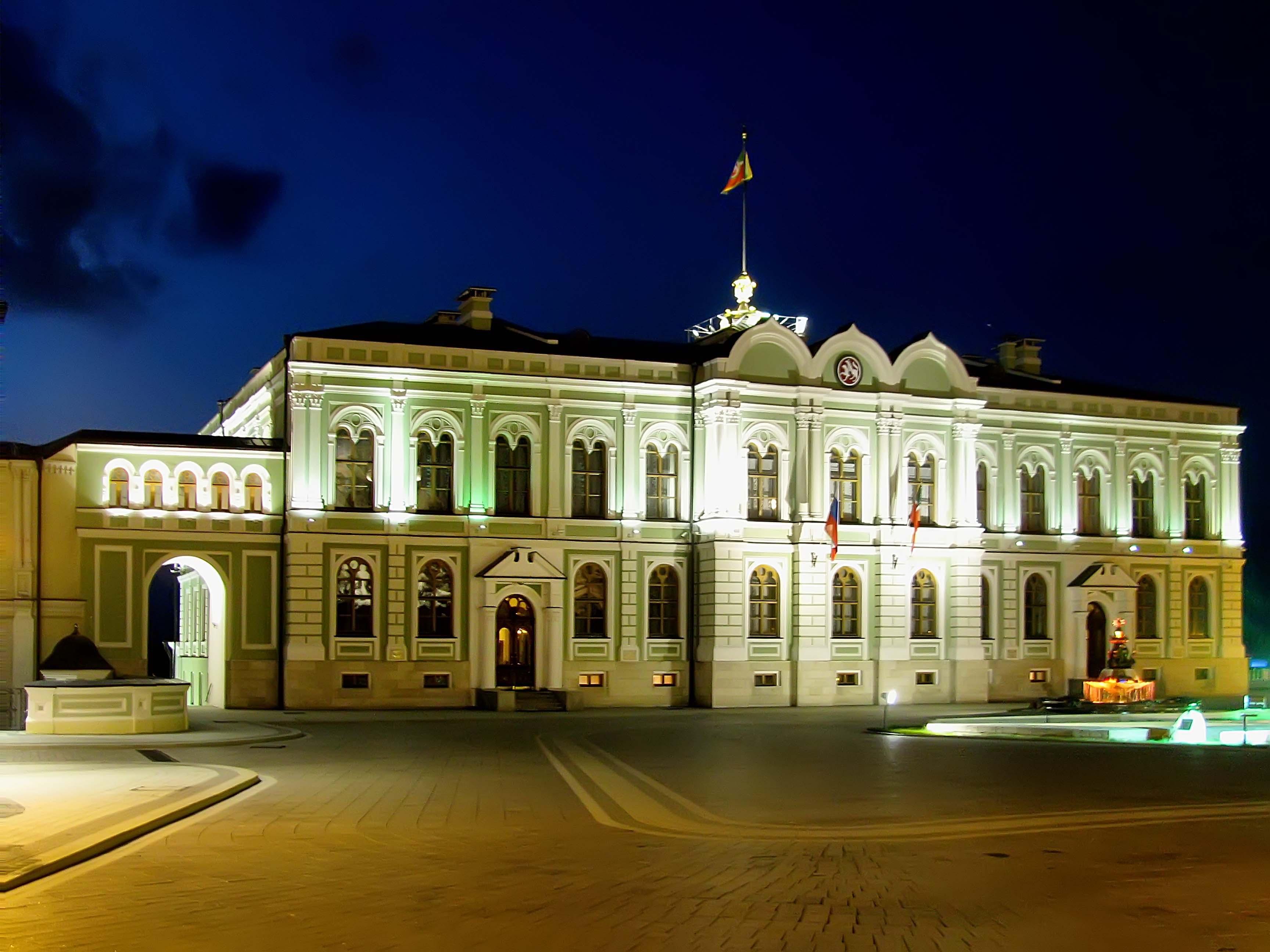 Резиденция Президента РТ::Казанский Кремль. Ночь. 2009г.
