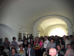 На открытии выставки Никаса Сафронова